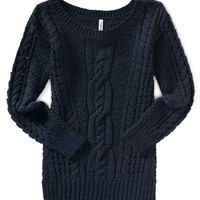 Solid Cable Sweater Tunic