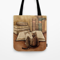 Kittens Reading A Book Tote Bag by digitaleffects