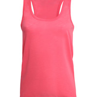 Womens Lightweight Slub Racerback Tank Top with Stretch