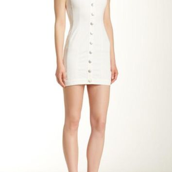 BCBGeneration | Button Front Woven Casual Dress | Nordstrom Rack