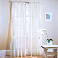 Window Curtains Solid Color For living Room Bedroom Curtains Window Home Decor 19 Color 1X2M
