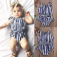 Infant Baby Girl Striped Romper Jumpsuit Outfit Onesuits Sunsuit Clothes 2016 NEW Fashion