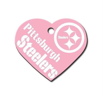 Pittsburgh Steelers Heart ID Tag
