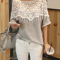 CUTE LACE HOLLOW OUT TOP