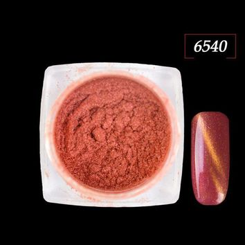1g/box Fashion Cat Eye Styles Magic Mirror Effect Nail Art Glitter Pigment 3D Shinning Fine UV Gel Polish Powder CH305