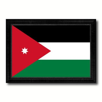 Jordan Country Flag Canvas Print with Black Picture Frame Home Decor Gifts Wall Art De