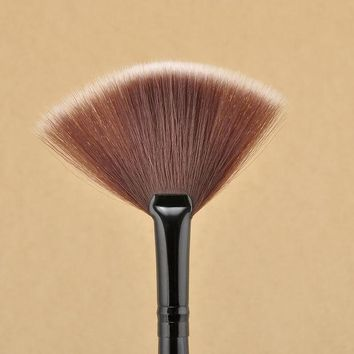 PEAPGB2 Free Shipping New Pro Fan Shape Makeup Brushes Cosmetic Brush Blending Highlighter Contour Face Powder Woman Makeup Tool NA1122