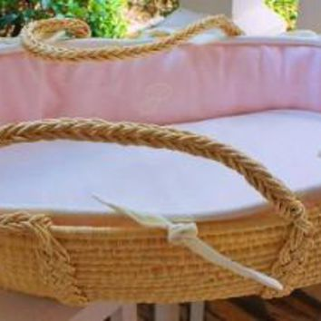 Monogram Series Pink Moses Basket