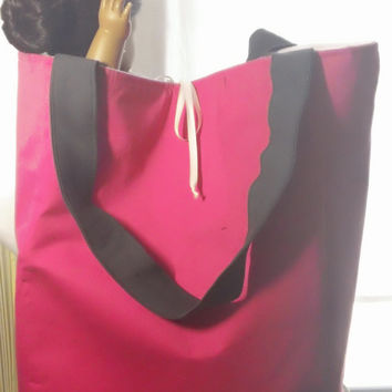 "Travel Ready!! 18"" doll carrier, fits 2 dolls plus accessories!!~Pink, White and Charcoal~ Made to order!"