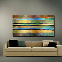 ORIGINAL ABSTRACT Painting Large Size by americanartsgallery