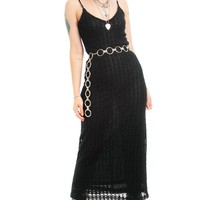 Vintage 90's Rhapsody Crocheted Maxi Dress - XS/S