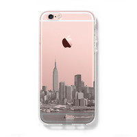 NYC New York City iPhone 6s Clear Case iPhone 6 plus Cover iPhone 5s 5 5c Transparent Case Samsung Galaxy S6 Edge S6 Case