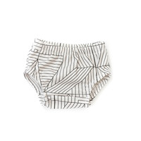 Organic Baby Bloomers in Geometric Cream