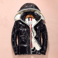 Discount  Moncler plus velvet down jacket Fashion men's jacket  / black