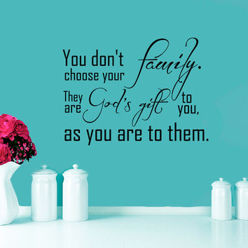 Wall Decal Quote Family Is God's Gift To You Interior Design Wall Decals Bedroom Living Room Dorm Kids Vinyl Stickers Home Decor 3958