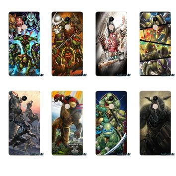 Tmnt Teenage Mutant Ninja Turtl TPU Capa Cover For Xiaomi Redmi 4 3 3S Pro Mi3 Mi4 Mi4i Mi4C Mi5 Mi5S Mi Max Note 2 3 4
