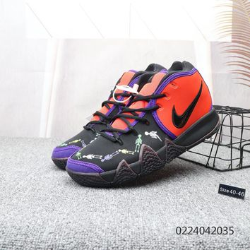 HCXX N001 Nike Kyrie 4 EP Basketball sneaker wear-resisting actual combat basketball combat boots Red Purple Black