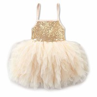 Baby Girl Sequins Bow Dress