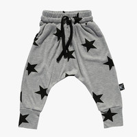 Nununu Star Baggy Pants in Heather Grey - NU0830