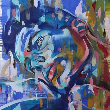"""""""Flowing Mood"""" by Bastien Ducourtioux, Mixed Media on Canvas"""