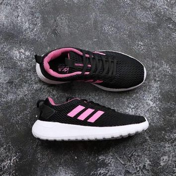 Adidas Neo Cloudfoam Life Racer CC Black White Pink - Best Deal Online