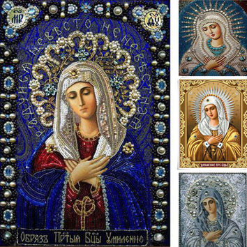 5D DIY Square Diamond Painting Full Embroidery Cross stitch kits religious Icons Mosaic Embroidery Diamond people Needlework