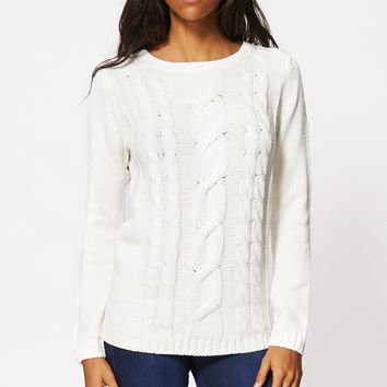 Cream Cable Soft Knit Jumper Ex-Branded