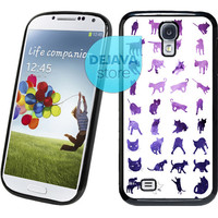 Cat Pattern Universe Samsung Galaxy S4 Case
