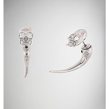 Skull Front to Back Studs - Spencer's
