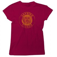 Saved By the Bell Bayside Tigers Circle Juniors Maroon Tee  - Saved by the Bell - | TV Store Online