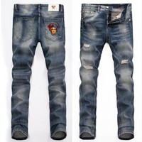 VERSACE Fashion Men Denim Pants Trousers Jeans