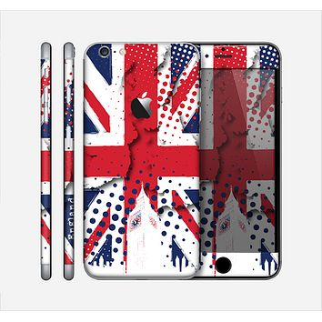 The Grunge Vector London England Flag Skin for the Apple iPhone 6 Plus