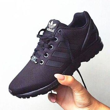 ESB9N Adidas' Fashion Women ZX FLUX Running Sport Casual Shoes Sneakers Black