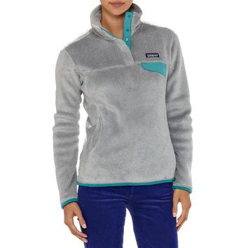 Patagonia Women's Re-Tool Snap-T® Fleece Pullover | Rusted Iron - Dark Currant X-Dye
