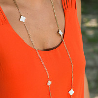 Wish Me Luck Necklace, White