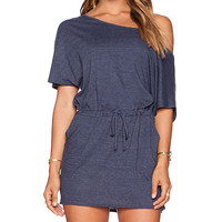 Chaser Off Shoulder Mini Dress in Navy