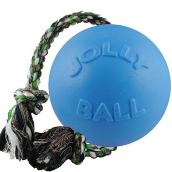 "Jolly Pets Romp-N-Roll Ball Dog Toy 6"" Blueberry"
