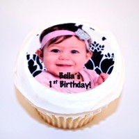 Custom Photo Edible Image Cupcake Toppers by SweetnTreats on Zibbet