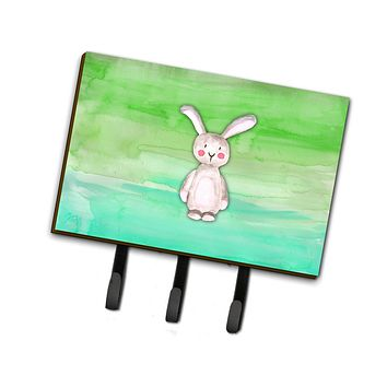 Bunny Rabbit Watercolor Leash or Key Holder BB7437TH68