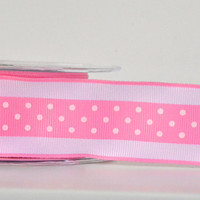 "1 yard 1.5"" grosgrain ribbon,polka dot ribbon,embellishment,card making,hair bows,scrapbooking,weddings,home decor,sewing,supply,crafts."