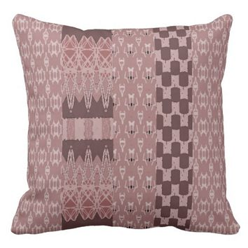 Multi-Patterned Weave-Styled Pillow