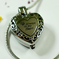 Infinity Keepsakes Always in my Heart Pet Urn Necklace Locket for Pet Memorial