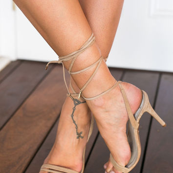 Crystal Heels (nude) - WINDSOR SMITH