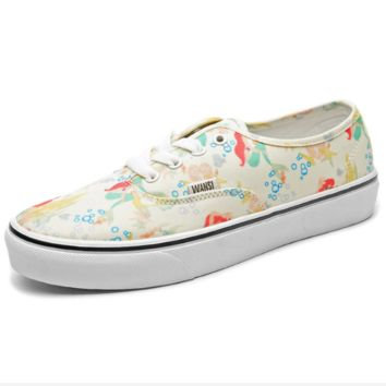 """Vans"" Casual Classic Shoes Retro  low tops Shoes Light yellow print"