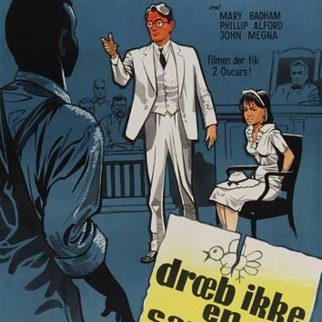 To Kill a Mockingbird (Danish) 27x40 Movie Poster (1963)