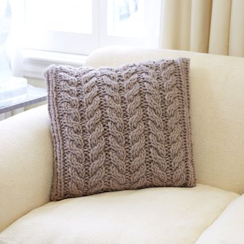 The Twisted Cable Pillow - Knit Kit