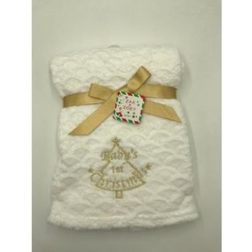 "Plush Fleece Baby Blanket 30"" X 40"""