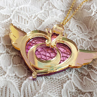 Sailor Moon Crisis Moon Compact Necklace