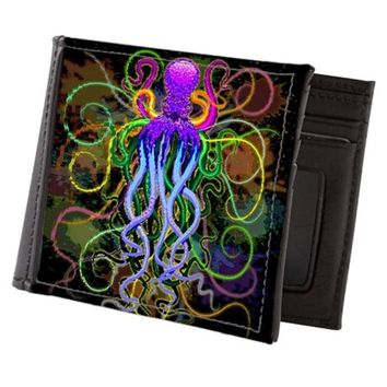 OCTOPUS PSYCHEDELIC LUMINESCENCE MENS WALLET