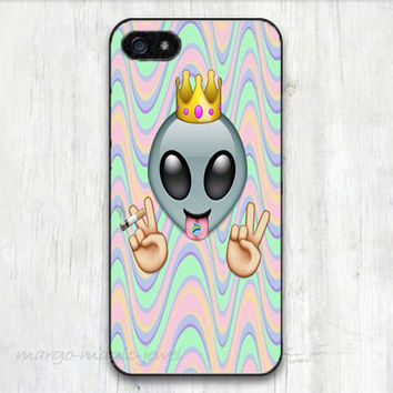 cover case fits iPhone models, unique mobile accessories, emoji, alien, peace, king